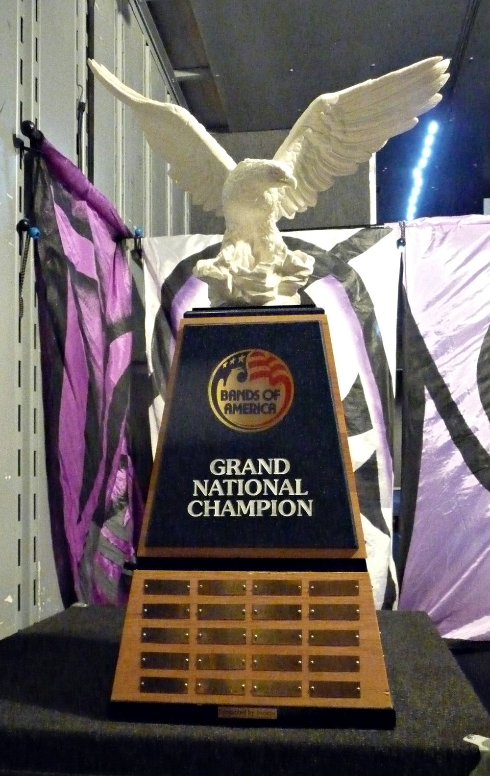 """The Eagle"" - The coveted Bands of America Grand National Champion's traveling trophy, won by Broken Arrow HS (OK) in 2015"