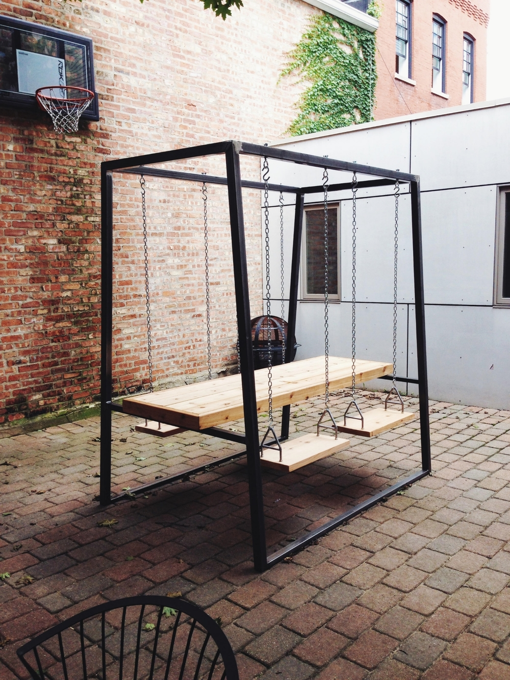 Swing Table eleven — the last workshop - modern furniture: builthand, made