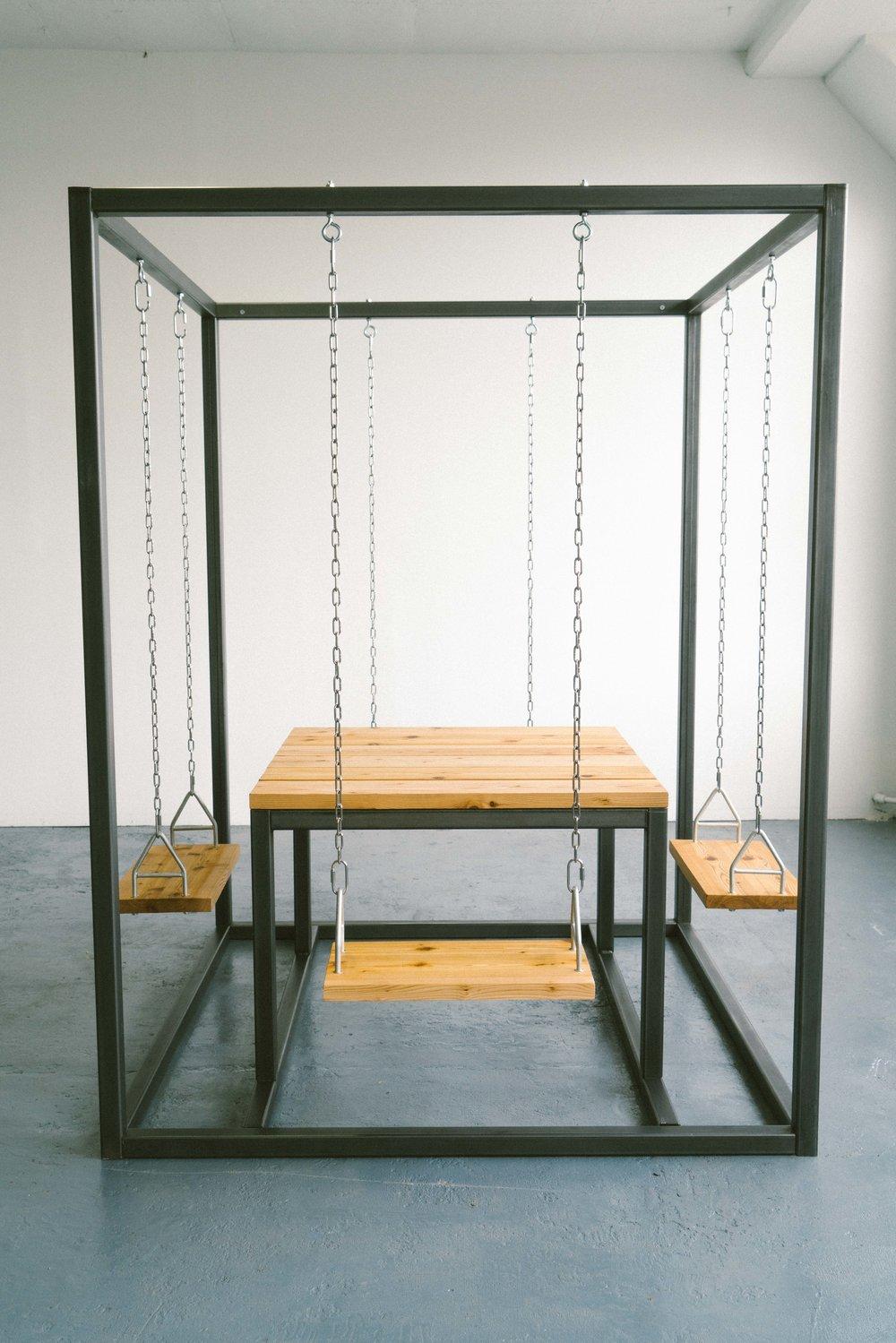 Beautiful SquARE Swing Set Table