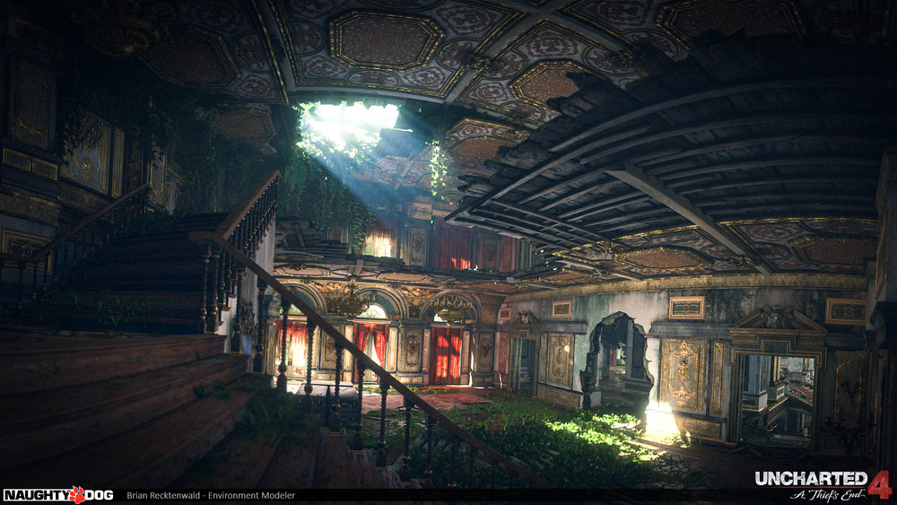 I helped model & set dress the main hall in Avery's mansion. Textures were done by Alice Gionchetta & Rogelio Olguin. Additional modeling by Rogelio Olguin, Brad Smith & Joshua Piszczek. Designed by Mark Davies. Lighting by Gabe Betancourt.