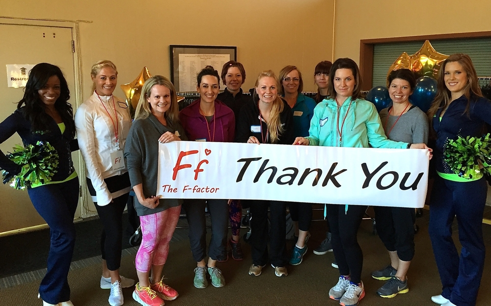 Volunteers at Stretch for the Stars Fitness & Wellness Fashion Workshop 2015 Community Partners include Poplin Style Direction, Plum Bistro, Shanyn Emerson, & the Sea Gals.