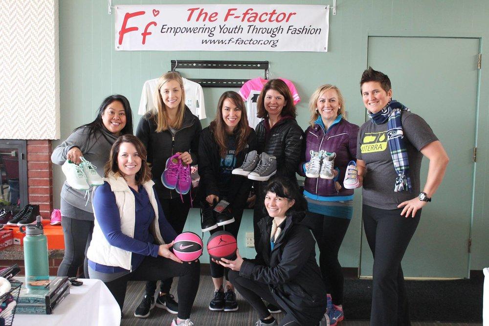 Janice Jimenez, Jen Andersen, Megan Mclure, Kristi Welsch, Brooke Reeves, Erika Black, front  Ellen Young, Vivian Konstantakos