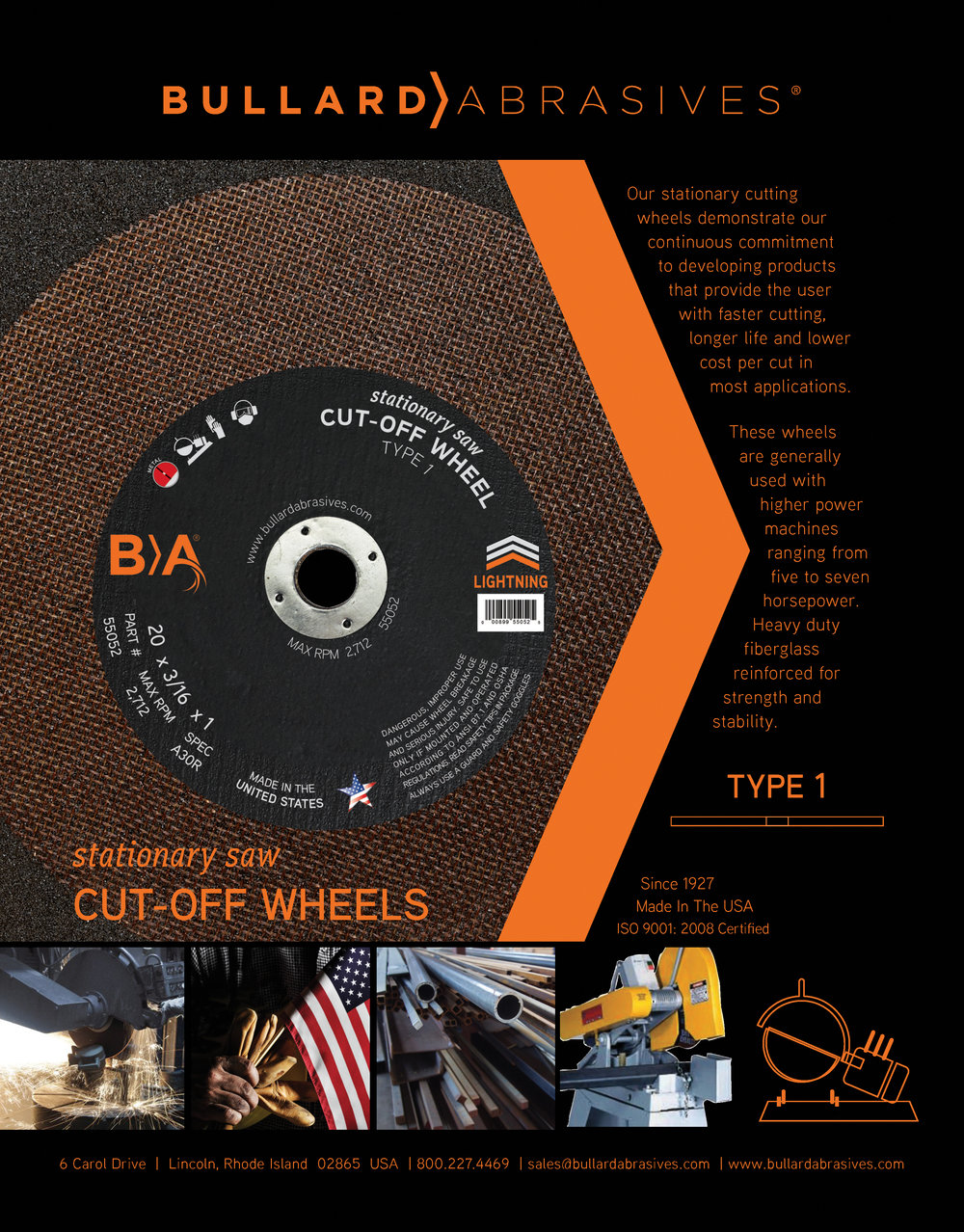 Stationary Saw Cut-Off Wheels Type 1