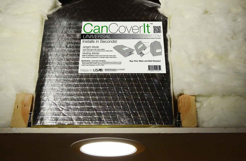 CanCoverIt protects fixtures, enhances comfort & saves you $$$ - Stops thermal transfer between your attic and interior, saving money and increasing comfort.