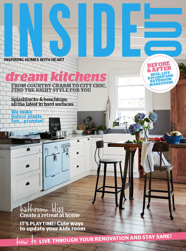 Kali Cavanagh - Vintage House Daylesford - Inside Out March 2014 cover. Photograph by Armelle Habib