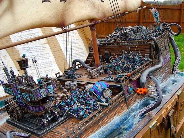 ⛵️Time to say bon voyage to yet another Adepticon! To those I was lucky enough to run into and chat with, thank you and can't wait to see you again. To those I was not, you are very missed and maybe next year. A guy could spend 20 minutes talking to everyone he wants to see and catch up with and still not have time in a 4 day weekend. A special thanks to Matt, Alex, Teras, Greg. You know who you are. Also to a special little lady who tagged along with me, for making it extra special and putting up with my bad jokes and cheesy introductions. What a sport. And to that drunk guy that killed off our deep dish in the lobby at 4am. You saved me from some more bad decisions, but after ten pounds of cheese your name escaped me. As always, lot of fun, and rejuvenated and back to work! See you all next time. ___________________ #scale #wargames #gaming #art #artist #marines #commission#creative #painting #scifi #fantasy #spacemarine #sculpture #toy #toyphotography #actionfigure #miniature#warhammer #painting #wh40k #wargaming #toyart #gamesworkshop #figurepainting #miniaturepainting  #paintingforgeworld #paintingwarhammer #nautical