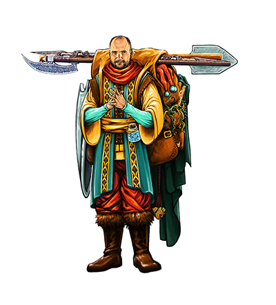 The Merchant - Offers invaluable items... for a price. (Available in the Merchants & Magic expansion)