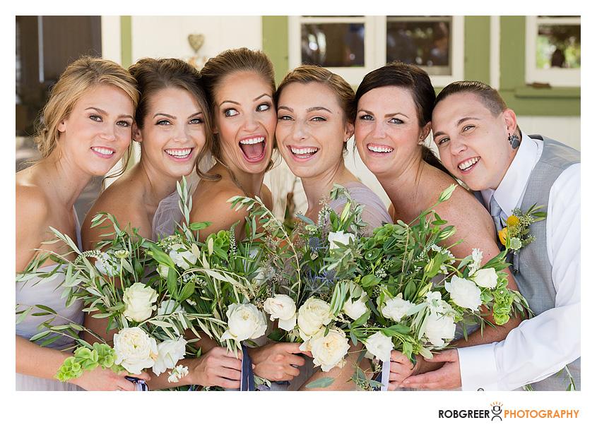 bridal party at rancho del cielo by rtto events
