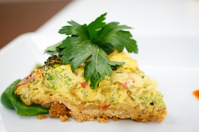 To Die-For Almond Crusted Vegetable Quiche