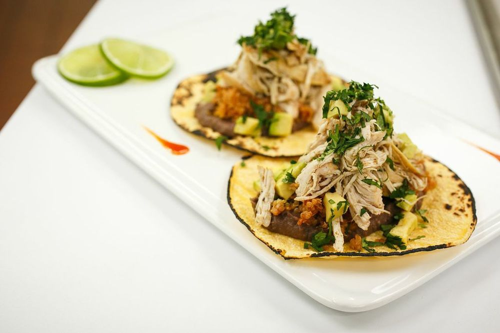 Chicken Tacos with Red Quinoa