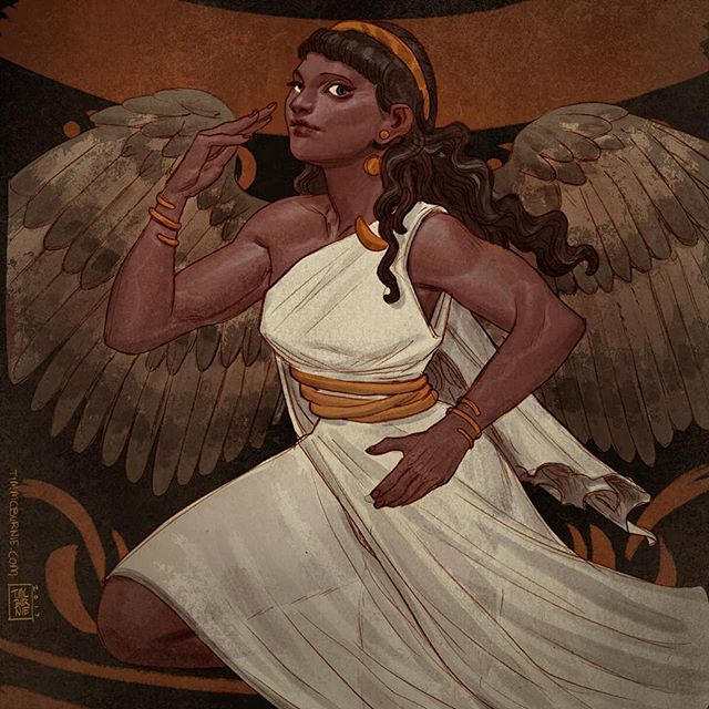 Today I present: Eris - Greek Goddess of Discord. Pencil drawing colored in Photoshop. #eris #mythology #drawing #fantasyart #illustration #mythicarcana #tauleadergames #kickstarter #goddess