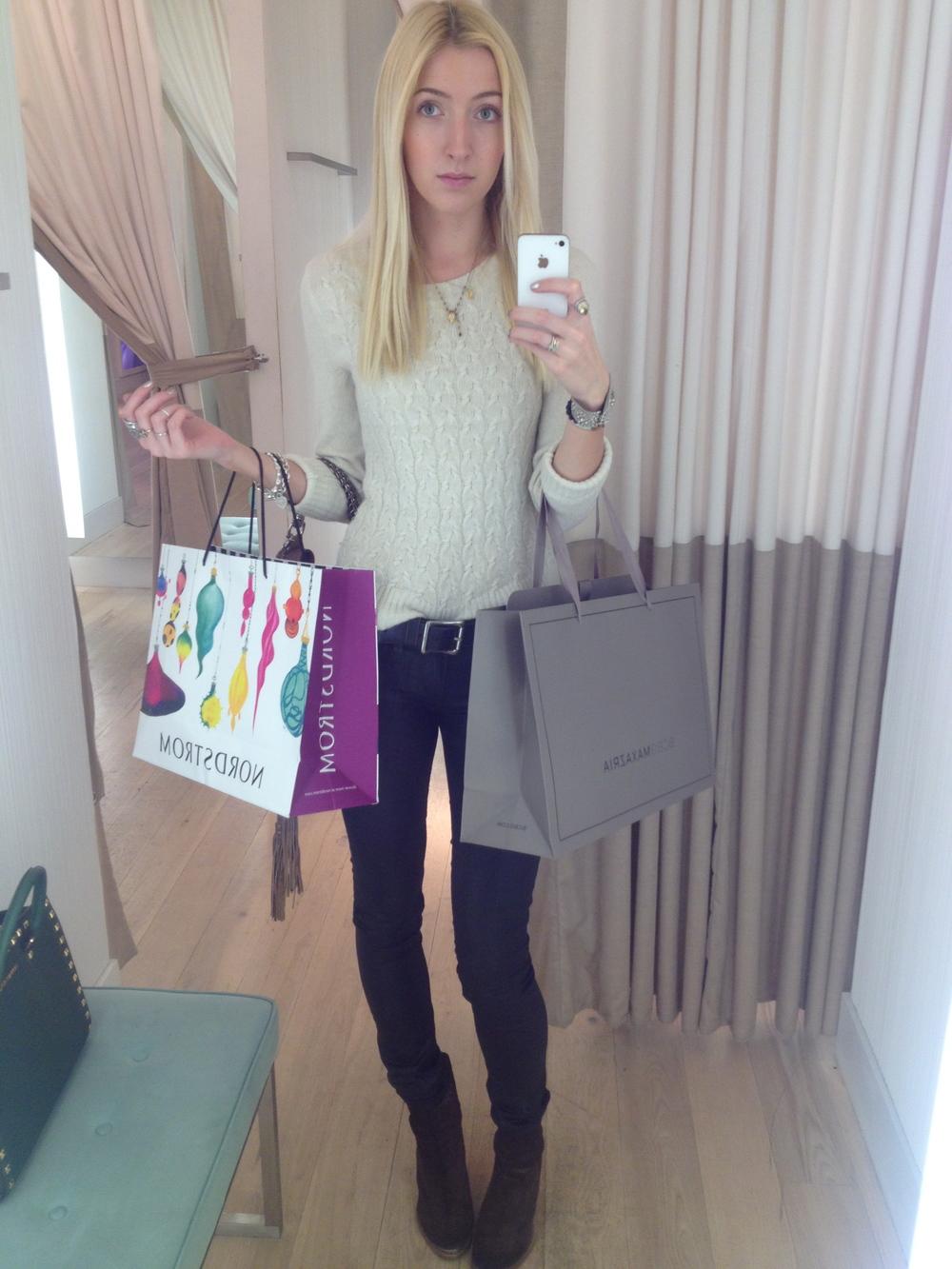 Sweater:  Ann Taylor Loft  // Coated Jeans:  Paige Denim  // Ankle Boots:  AllSaints