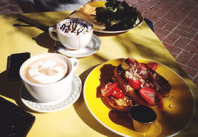 The most delicious french toast at  The Yellow Vase