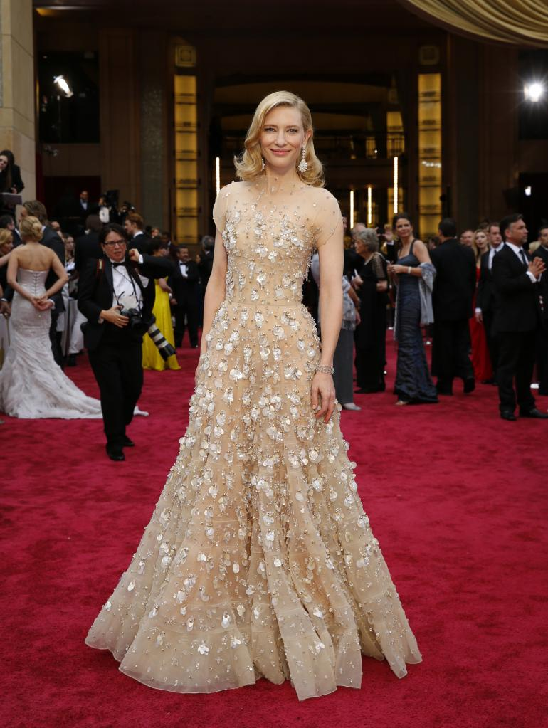 Cate Blanchett was ready to take home the gold in this pailette-covered Armani gown.