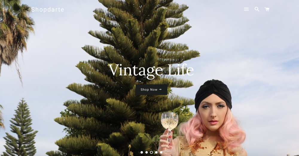 "Shop D'Arte - online shop & boutique - featured on the home page and under the ""Vintage Life"" collection page (December 2017)"