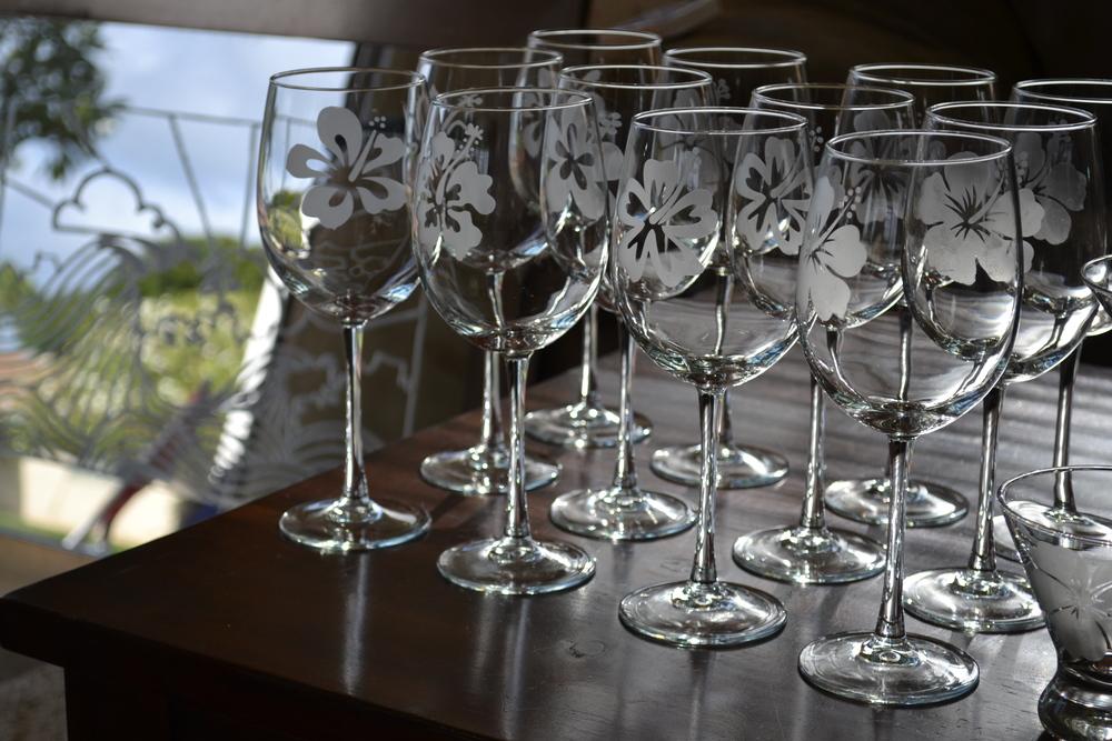 Crab Shack Glass Hibiscus Wine Glasses.JPG