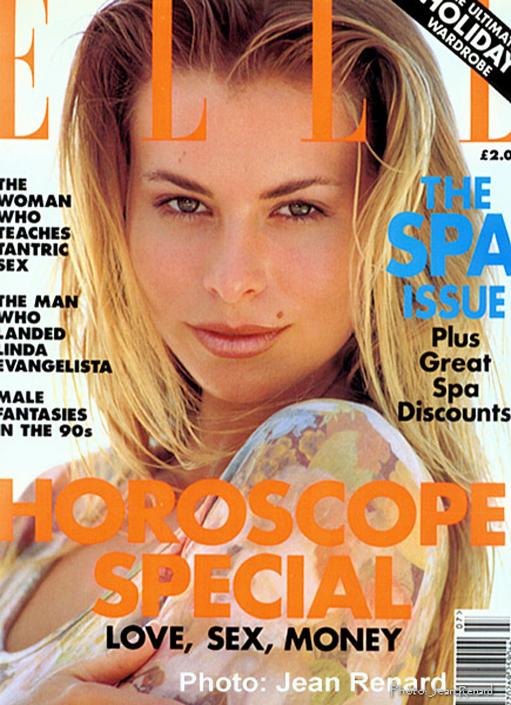 My first British Elle Magazine cover. I was so excited.