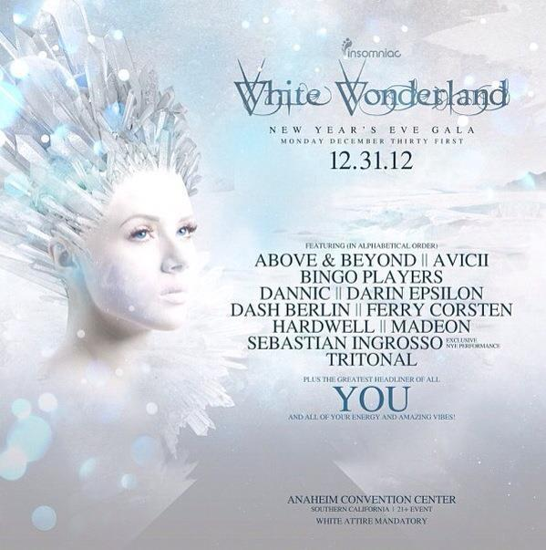 White Wonderland promo campaign Insomniac