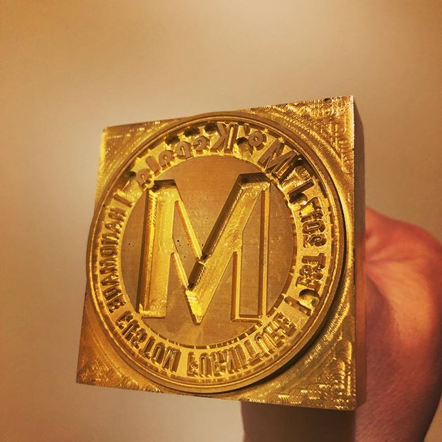 Our beautifully machined brass branding iron has arrived, can't wait to give it a go on some custom designed and hand built furniture :) ______________ #brandingiron #customfurniture