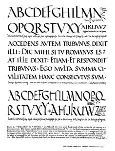 Edward Johnston's formal calligraphy