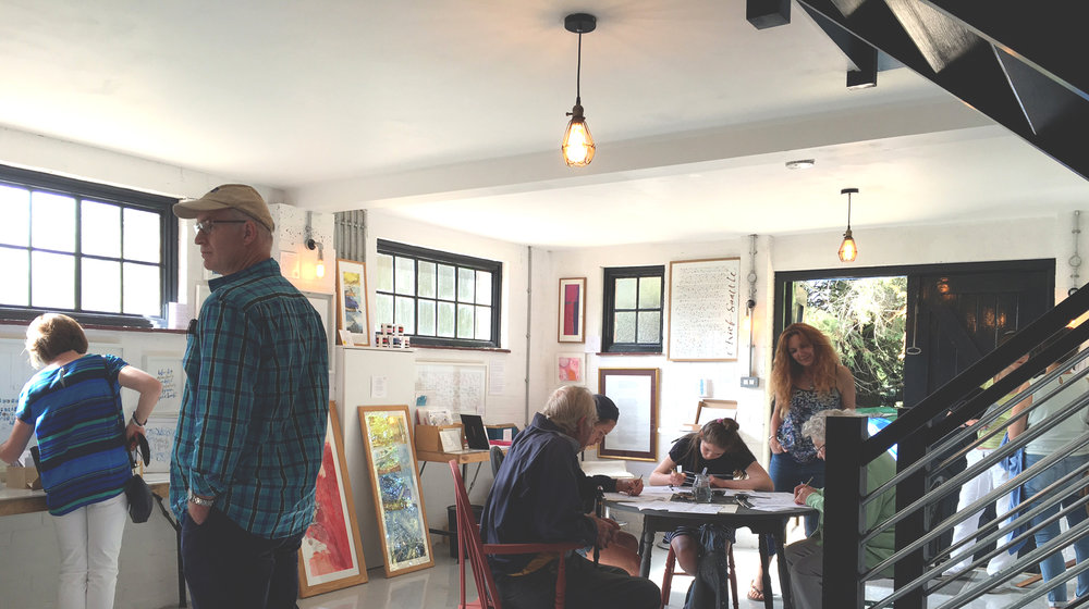 Come and admire calligraphic art works hung in an amazing Victorian Substation, and even have a go at calligraphy yourself.