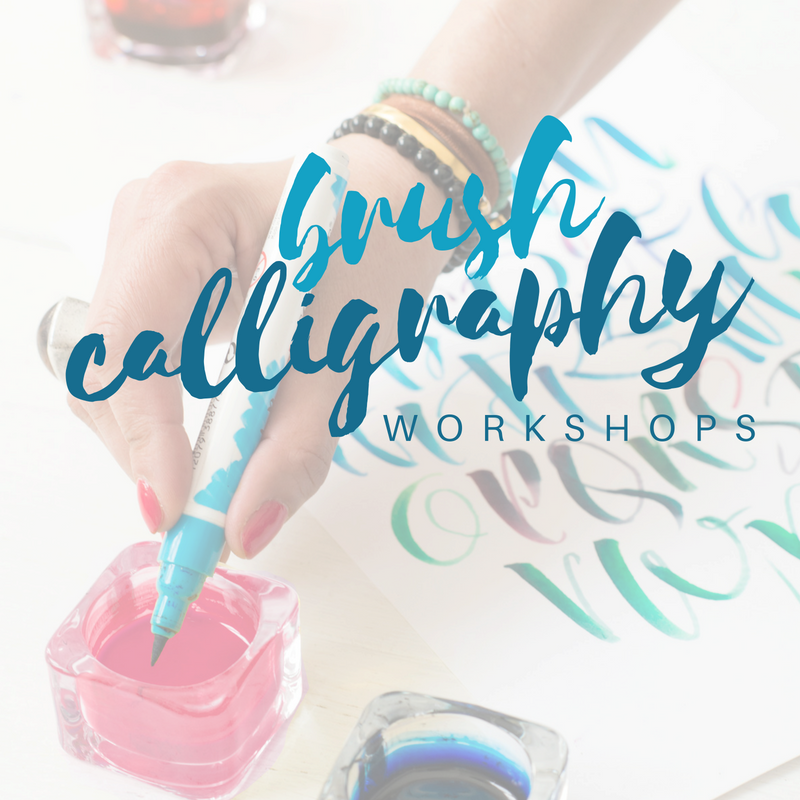 Click here to see all our brush pen calligraphy workshops