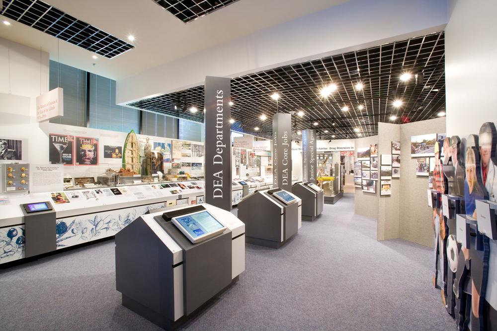 Graphics for DEA Museum Permanent Exhibit,Drugs in America