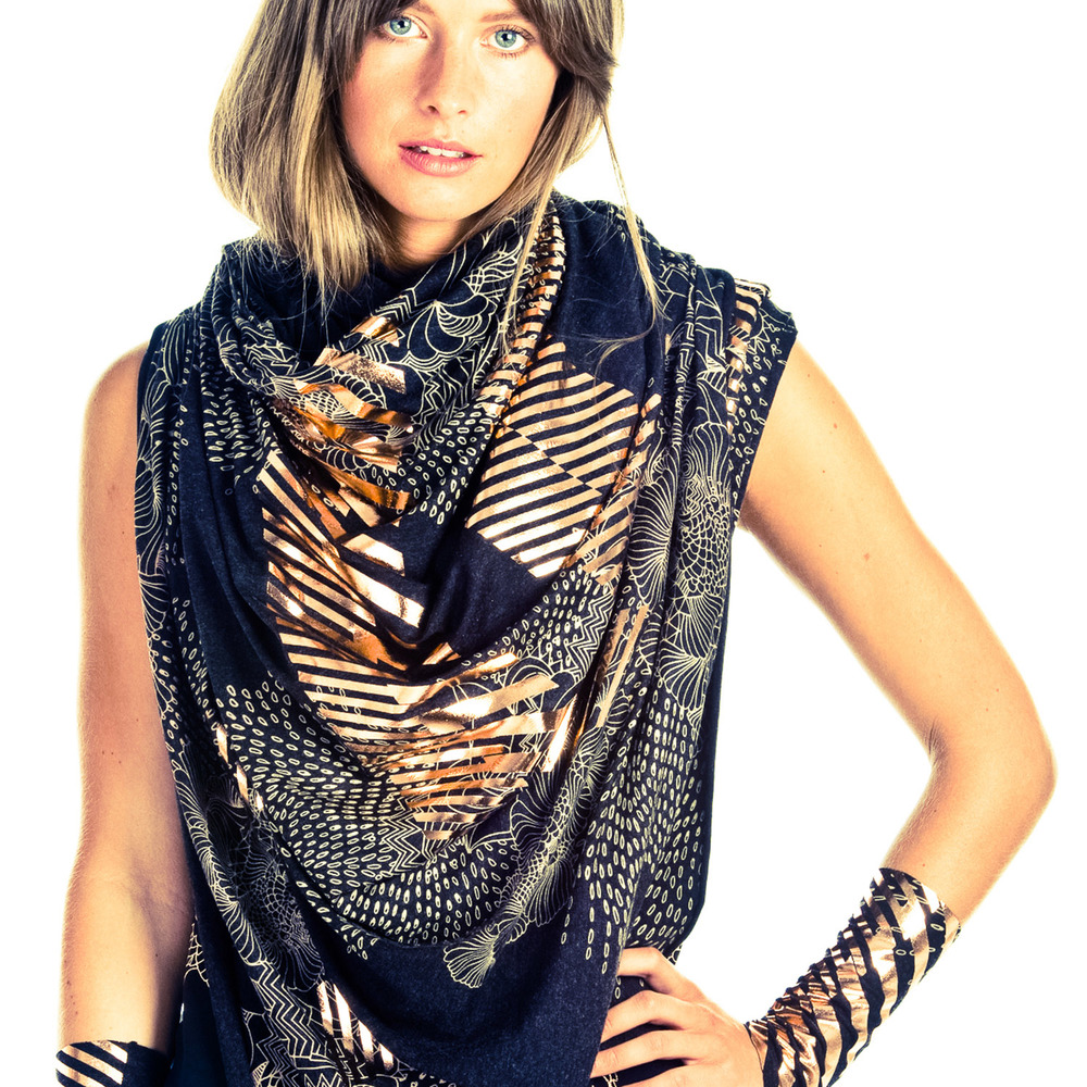 Featured Goldie Scarf and Goldie cuffs