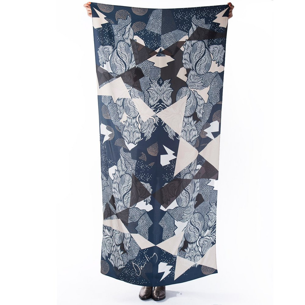 Farrow silk scarf
