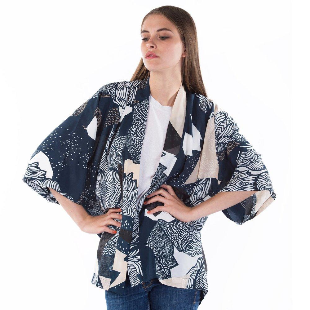Farrow silk kimono