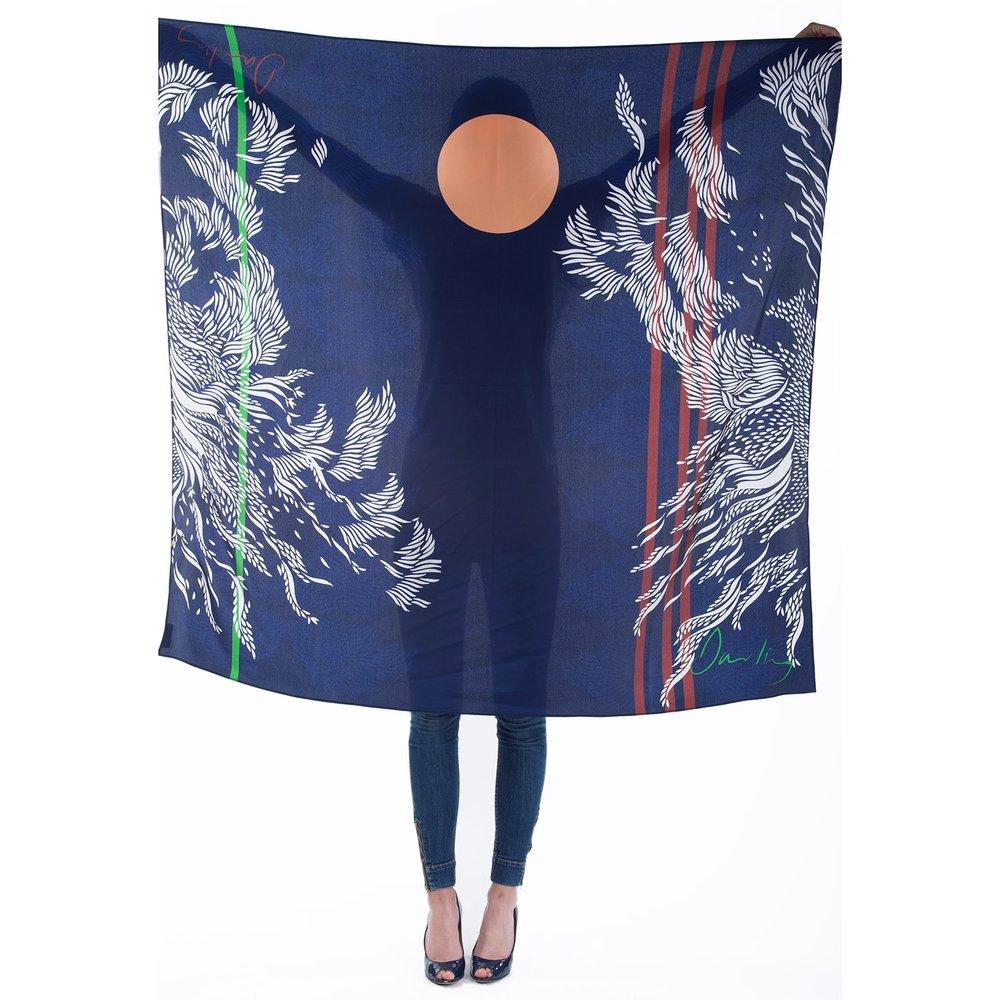 Florence large silk scarf