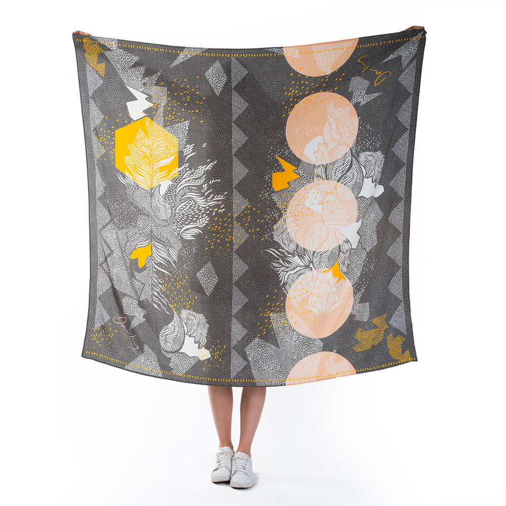 Hamnet large silk scarf