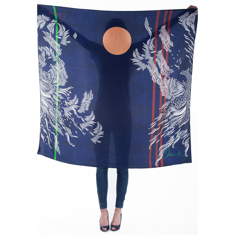 Florence silk scarf