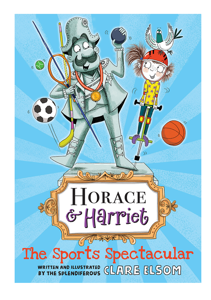 In Horace & Harriet book three it's the day of the Sports Spectacular and once Harriet manages to convince Horace that his park isn't being invaded, he soon gets into the spirit of the games. But will his winning streak land him in trouble when crafty Coach Whipston wants a share of his success?