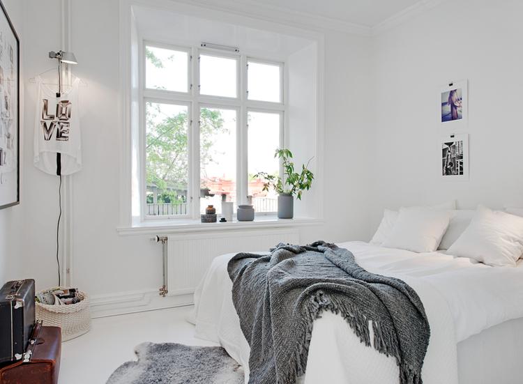 Soffa magazine white for small bedroom