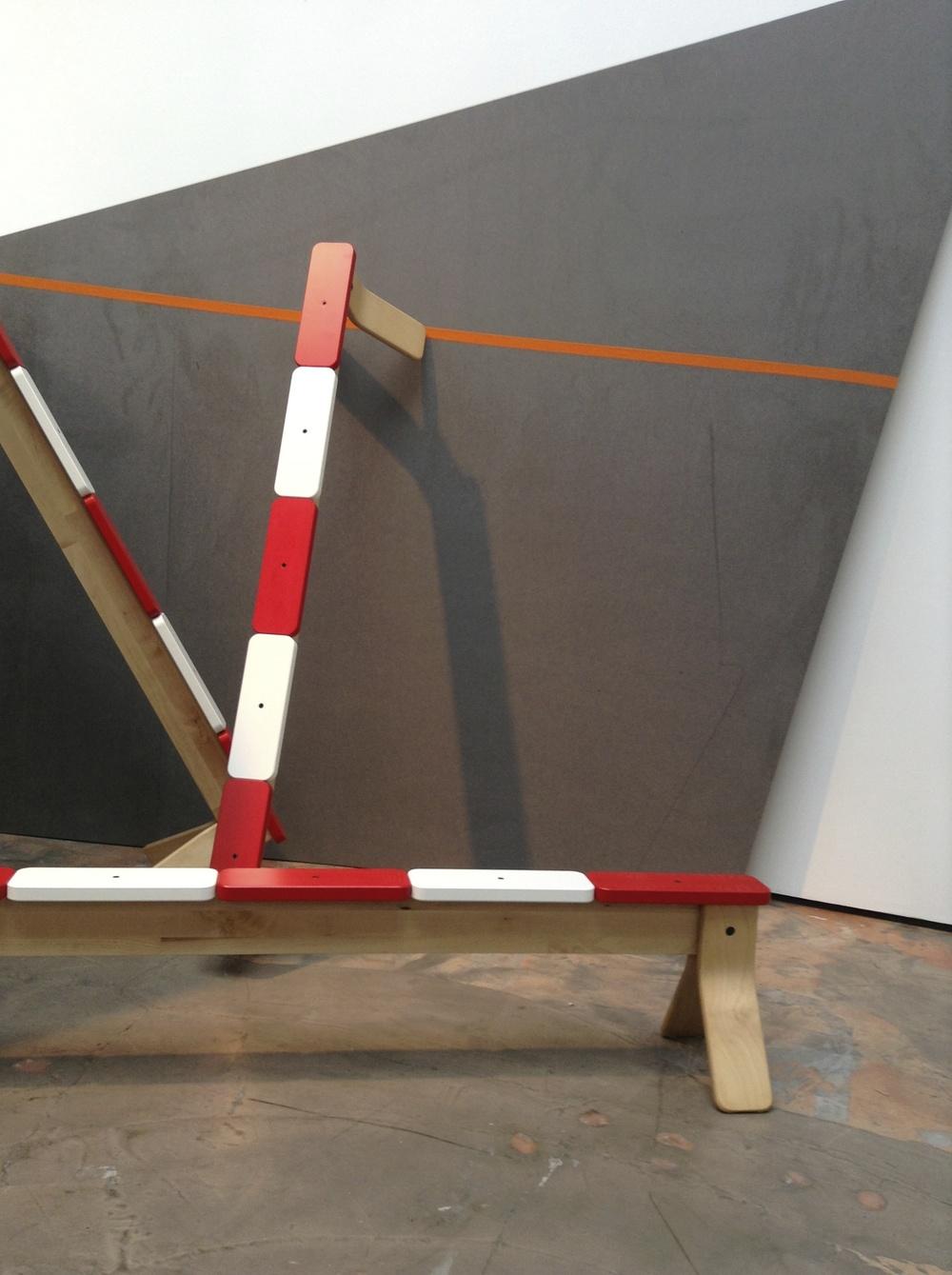 Balancing bench, design Henrik Preutz