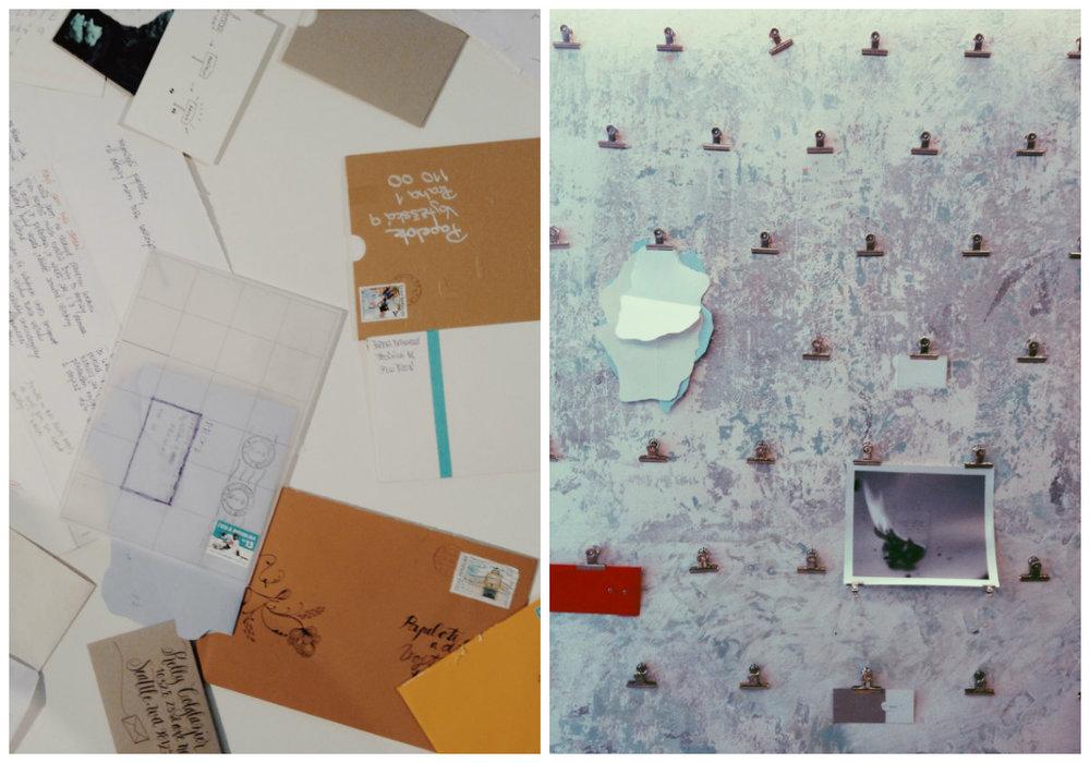 Součástí výstavy jsou i dopisy, které Papelote obdrželo od příznivců před přípravou kolekce.