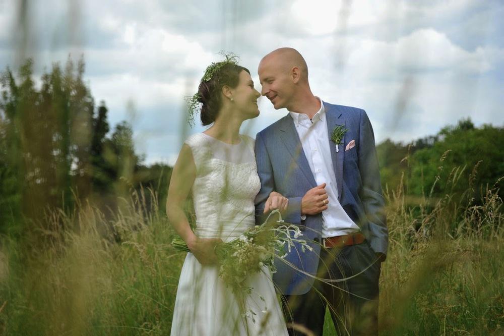 Lina's amazing wedding dress was designed by her friend Magda Vachunová (http://maydafashion.com)