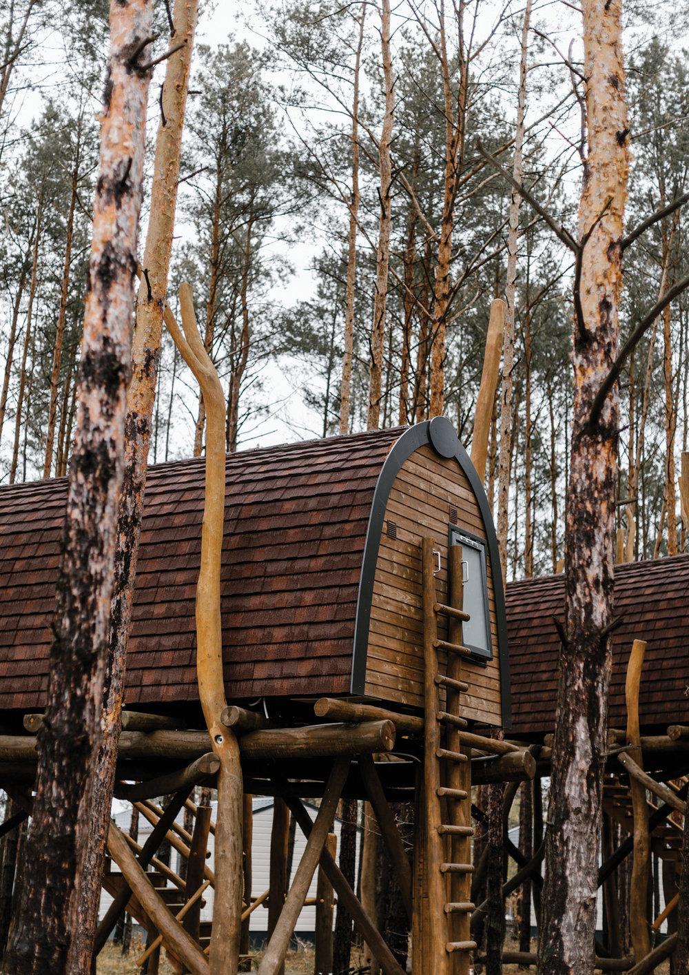 Tree houses at Lake Senftenberg