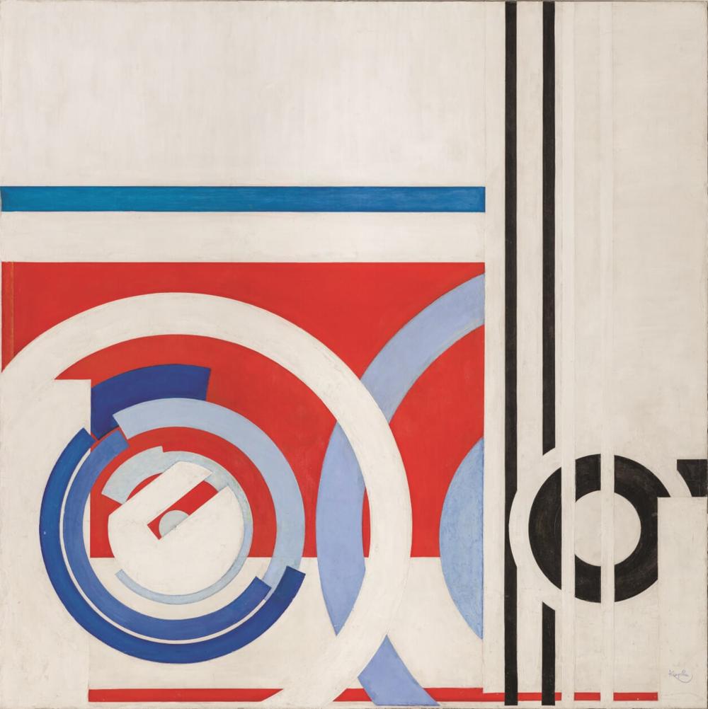 František Kupka,  Circulars and Rectilinears , 1937, National Gallery Prague; oil, canvas, 102 × 102 cm