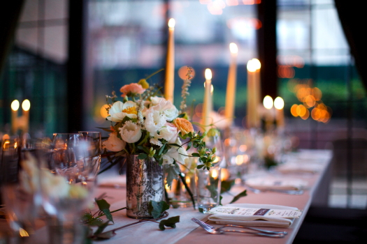 Bowery Hotel Wedding tablescape