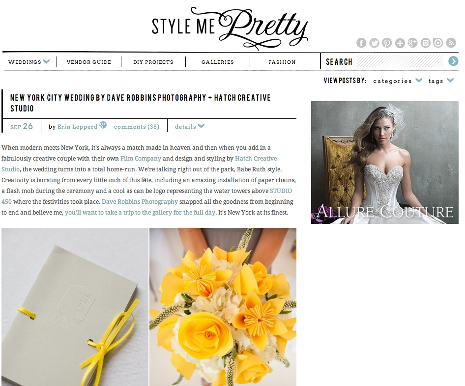 Studio 450 on Style Me Pretty