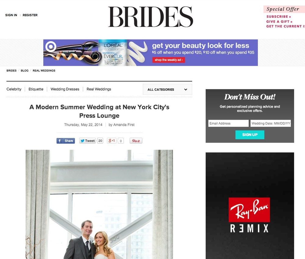 Press Club Wedding on Brides.com