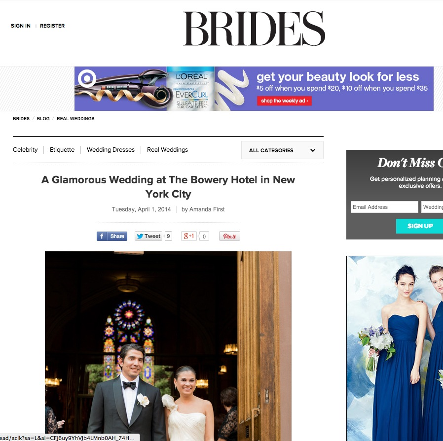 Bowery Hotel Wedding On Brides.com