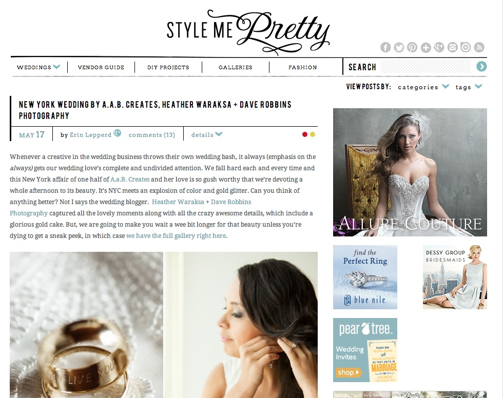 Style Me Pretty NYC Wedding