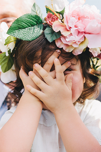 Flower girl cuteness! Floral by Stone Fox Floral/ Photo by Shannen Natasha/ Day of Coordination by Just About Married
