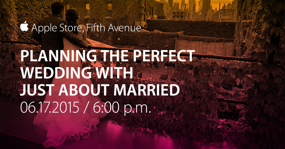 Just About Married at The NYC Apple Store