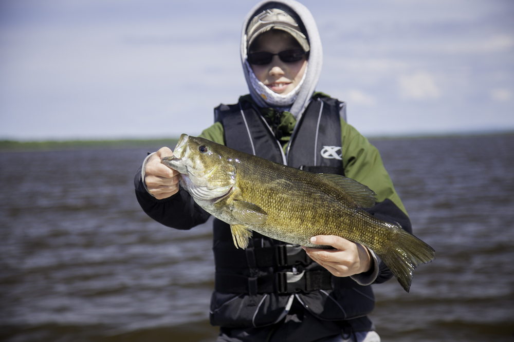 James is only 12, but already knows how to finesse those big Smallmouth!