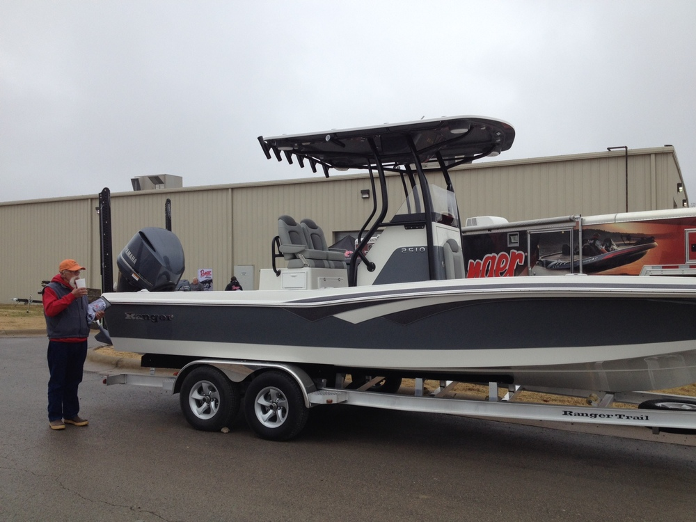 2510 Ranger Bay boat, brand new this year.