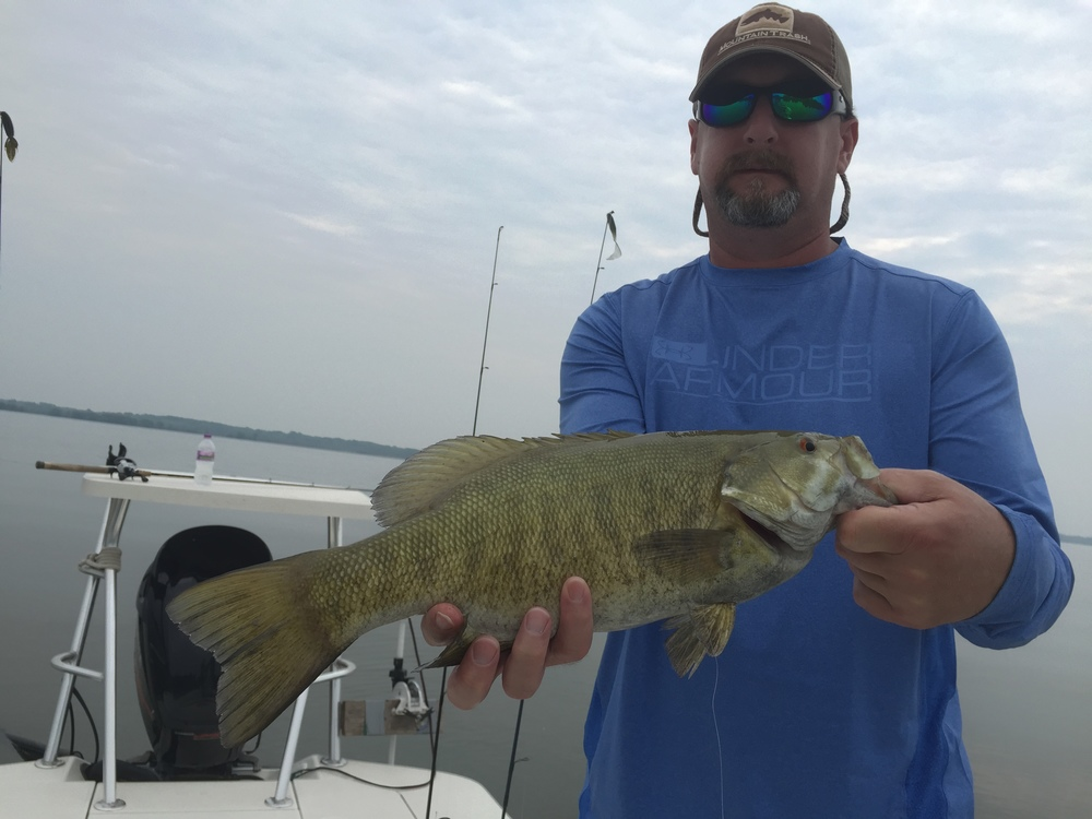 Kelly, another Arkansan, with a great Cheq. Bay smallie.